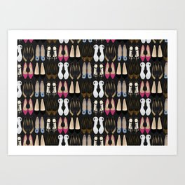 Ladies Shoes Art Print