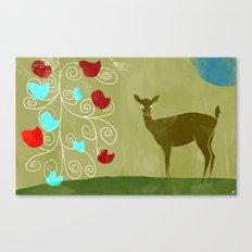 young deer Canvas Print