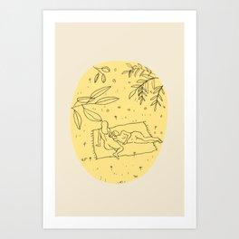 CALM SPRING Art Print