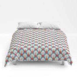 Bulbuous CHERRY MINT Comforters