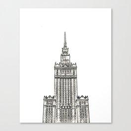 Architecture: Pałac Kultury i Nauki Canvas Print