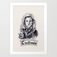 hermione Art Prints featuring Hermione by MarievArp