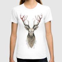 deer T-shirts featuring Deer tree by Rafapasta