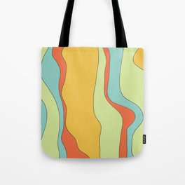 Curly lines of colour pattern Tote Bag