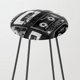 Something Nostalgic - black and white #decor #buyart #society6 Counter Stool