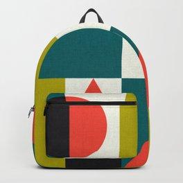 Mid-century Pattern 107 (blocks) Backpack