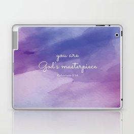 You are God's masterpiece, Ephesians 2:10 Laptop & iPad Skin