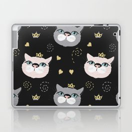 Cute cat princess face. Laptop & iPad Skin
