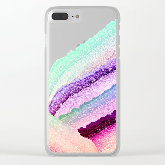 FLAWLESS UNICORN RAINBOW Clear iPhone Case