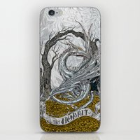 the hobbit iPhone & iPod Skins featuring The Hobbit by Denis Rekun