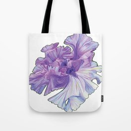 Lace Iris Tote Bag