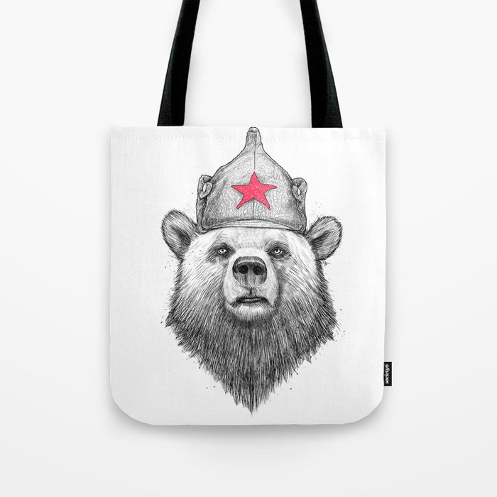 russian bear Tote Bag