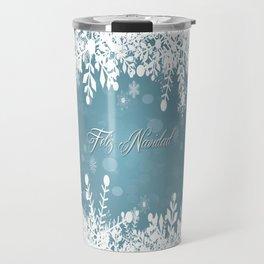 Aqua Holiday Mug Travel Mug