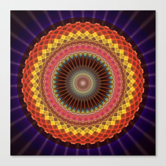 The mandala of Energy Canvas Print