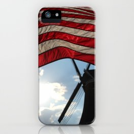Flag over Windmill iPhone Case