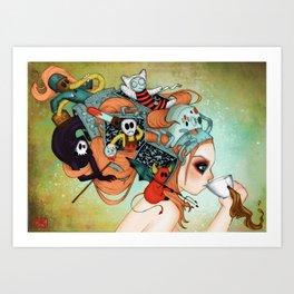 Gamer vs Villans Art Print