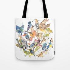Bird Circle Tote Bag