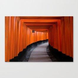 Torii Gates, Kyoto, Japan Canvas Print