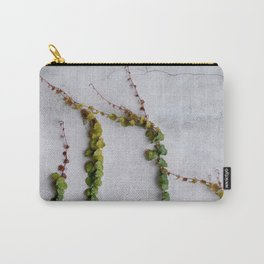 Upward Climbing (green vine on grey wall) Carry-All Pouch