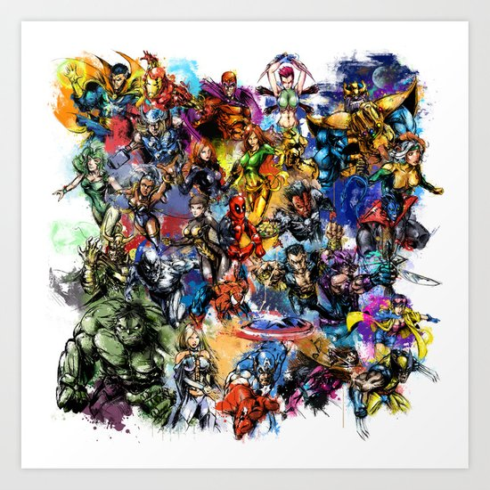 Marvel MashUP Art Print