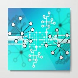 Abstract Molecules Metal Print