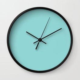 Serene Aqua Blue Solid Color Wall Clock