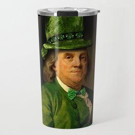 St Patrick's Day for Lucky Ben Franklin Travel Mug