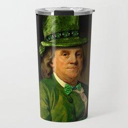 St Patrick's Day for Lucky Ben Franklin Travel Mug