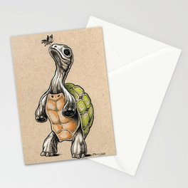 Tortoise and Butterfly Stationery Cards