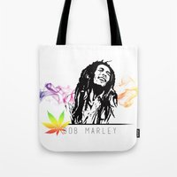 marley Tote Bags featuring Marley Stencil Work by L & T Designs