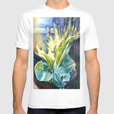 Staghorn Fern White Mens Fitted Tee MEDIUM