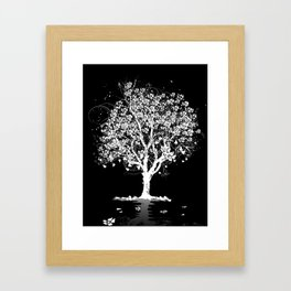 Tree with flowers in spring Framed Art Print