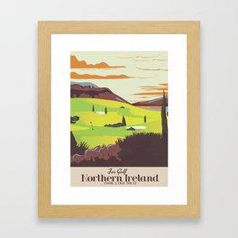 'For Golf' Northern Ireland Travel poster Framed Art Print