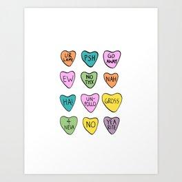 Anti Hearts Art Print
