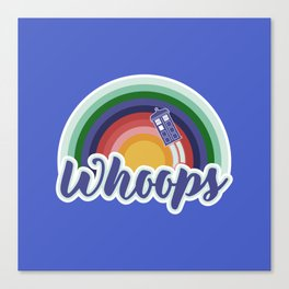 Retro Whoops Canvas Print