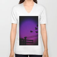 let it go V-neck T-shirts featuring Let Go by Rick Staggs