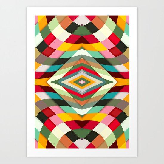 Colorful Smile Art Print