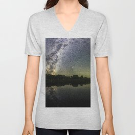 Henry Lake New Zealand Under Southern Hemisphere Skies By Olena Art Unisex V-Neck