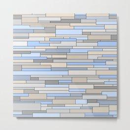 Mosaic Pattern Horizontal Metal Print