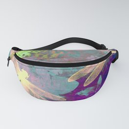 Painting Dragonflies and Orchids A Fanny Pack