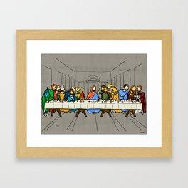 Cenaculum -Last Supper Framed Art Print