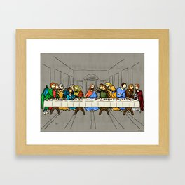 Cenaculum -Last Supper Framed Art Print
