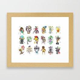 CutOuts - Ensemble Framed Art Print