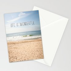 Life is Wonderful Stationery Cards