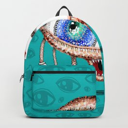 Pointillism Eye Guy Backpack