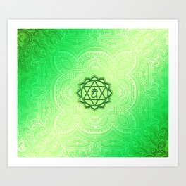 Heart Chakra by Golden Ascension Art Print