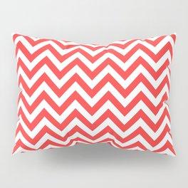 Coral Chevron Pillow Sham