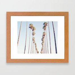 Palm tree stripes Framed Art Print