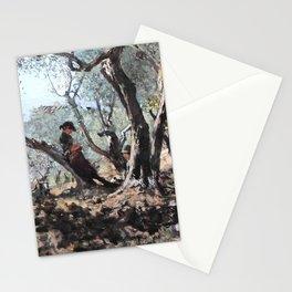 Telemaco Signorini - Fra gli ulivi a Settignano - Among the Olive Trees in Settignano Stationery Cards