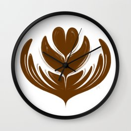 Latte Tulip Wall Clock